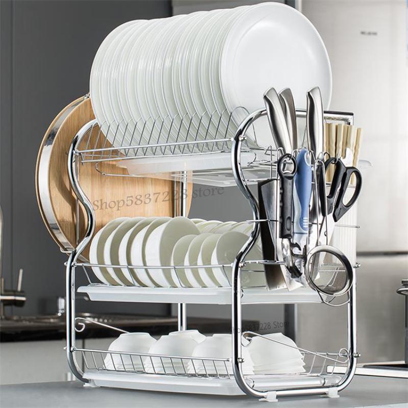 Вешалка для шкафа, сушилка, Бытовая Кухня, стеллаж для хранения, артефакт, многофункциональная круглая тарелка, подставка для посуды, хранен...