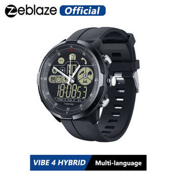 IP67/50M Water Resistant ZEBLAZE VIBE 4 HYBRID Rugged Smartwatch 1.24inch FSTN & Mechanical Hands Sapphire Glass Smart Watch Men - DISCOUNT ITEM  55% OFF All Category
