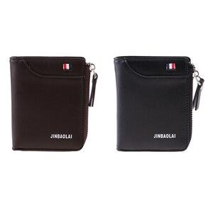 Мужской короткий кошелек, кошелек для монет, держатель для кредитных карт, клатч, двойной карман