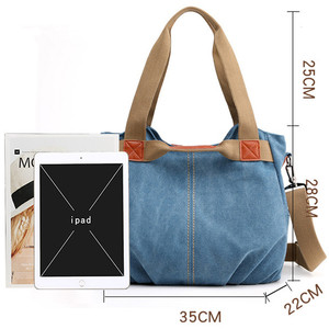 Image 4 - Winter Style Women Canvas Bag Ladies Hand Crossbody Bags For Women High Quality Female Panelled Hobos Shoulder Bag Totes Bolsas