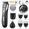 KEMEI все в 1 перезаряжаемая машинка для стрижки волос для мужчин водонепроницаемый беспроводной электробритва борода нос ушной триммер для в...