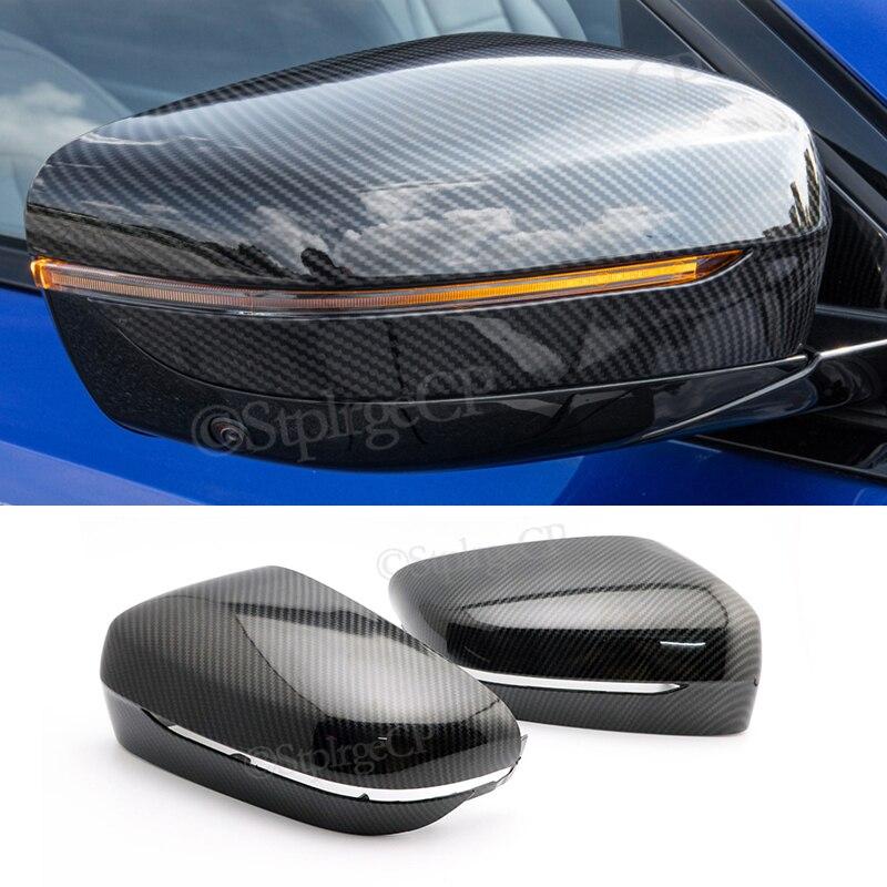 Заглушки для зеркала заднего вида BMW 3 серии G20 G21 2019 2020 черный/углеродное волокно