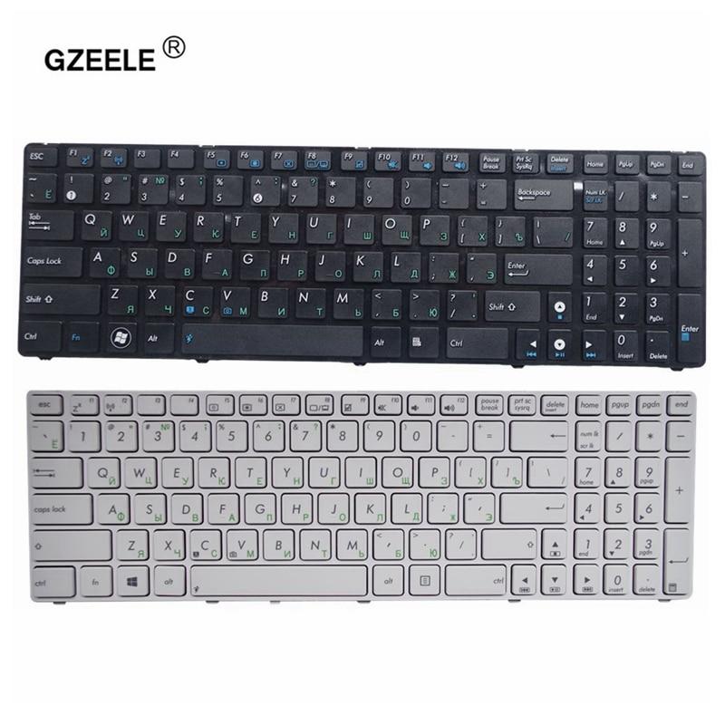 GZEELE RU For ASUS X55A X52 X52F X52J X52N X52JC X52JR X52J X52JU X52DE X55 X55C X55U G72 G73 G72X G73J Keyboard  White/black RU