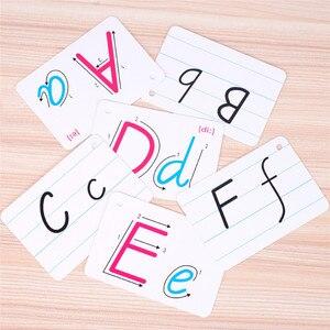 Carta inglês montessori cartão livro brinquedo manuscrita desenvolvimento precoce flash aprendizagem brinquedo educativo para crianças criança