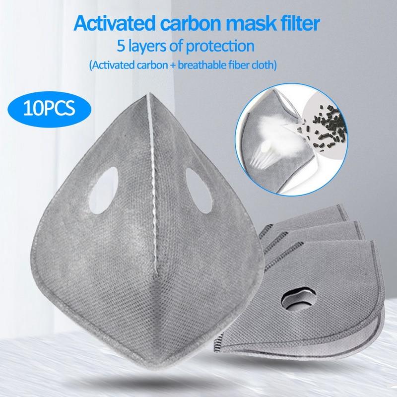 10pcs 20pcs 50pcs 100pcs PM2.5 Filter Paper Anti Haze Mouth Mask Filters Anti Dust N95/N99 Mask Filter Paper Health Care Adult