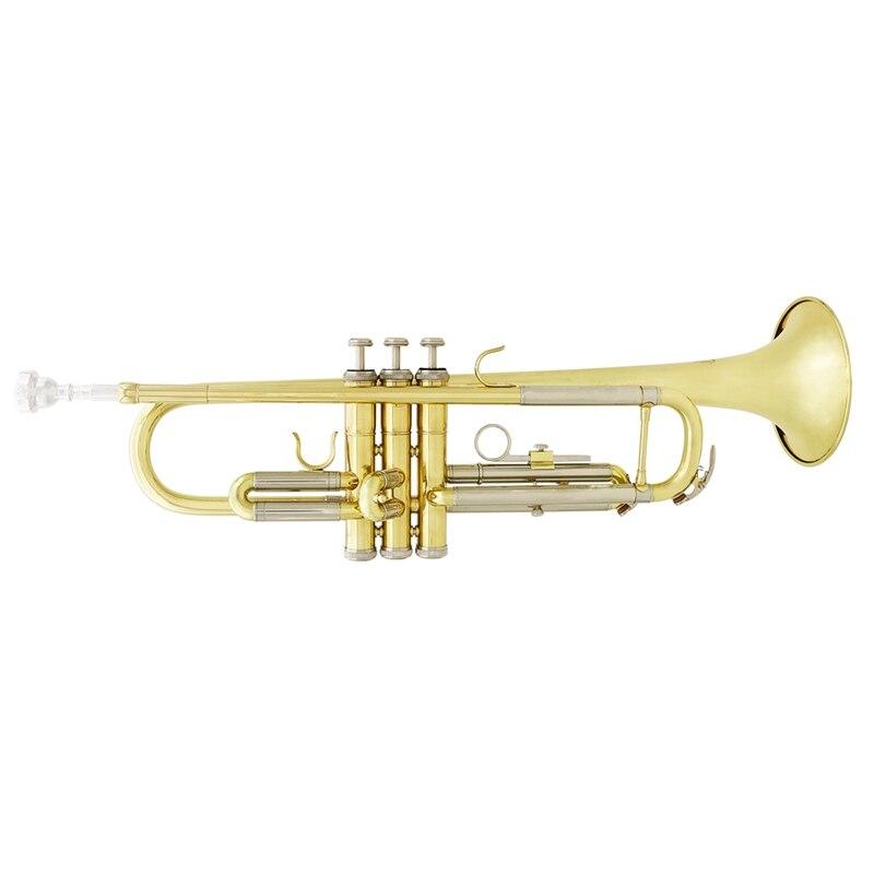 Slade trompette Bb B plat Durable en laiton trompette débutant Instrument de musique avec embouchure gants et exquis Gig Bag - 2