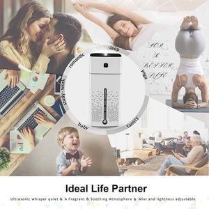 Image 3 - Humidificateurs dair atomiseur ultrasons aromathérapie diffuseurs grande capacité silencieux lumière LED nuit USB humidificateur pour le bureau à domicile