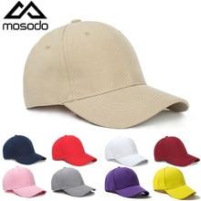 Mosodo New Baseball Cap Men Fashion Solid Color Baseball Cap Women Summer Sports Sun Hat Couple Peaked Cap