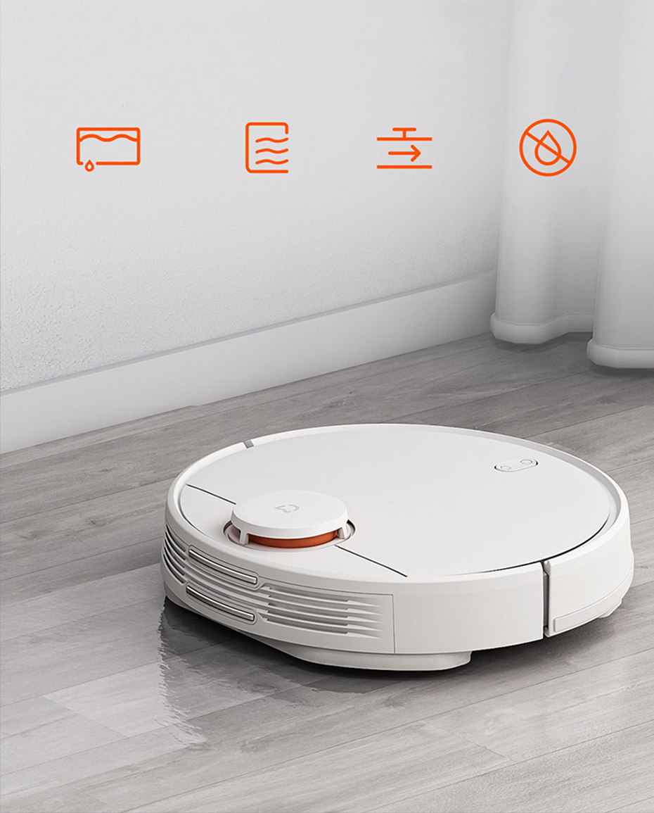 H7e8a23cae59b40d0ae714aebdd522f2f5 Present Gift Xiaomi Mijia STYJ02YM V2 pro mi robot Vacuum Cleaner 2 mop-p sweep mop suction 2 in 1 wifi EU Russia warehouse