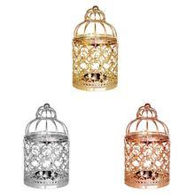 Hueco colgante jaula de pájaro candelabro linterna decoración de boda