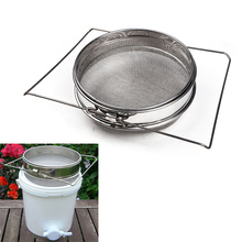 Double Layers Stainless Steel Honey Filters Strainer Network Screen Mesh Filter Beekeeping Tools