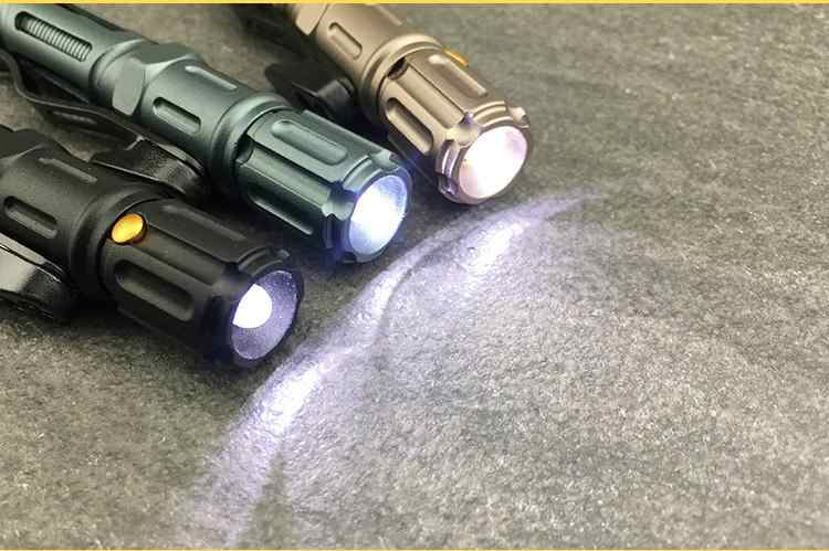 Outdoor Survival ยุทธวิธีปากกาแก้วฉุกเฉินไฟฉายป้องกันตัวเองแบบพกพา Multi-Function ไขควง EDC เครื่องมือ