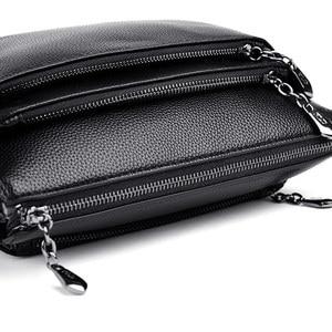 Image 4 - Leder Kleine Klappe Luxus Handtaschen Frauen Taschen Designer Handtaschen Hohe Qualität Umhängetaschen Für Frauen Schulter Tasche Sac EIN Haupt