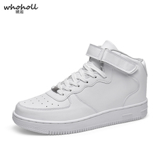 White Sneakers Men Shoes Casual Classic Breathable Winter Fashion Walking Leather Size 35-48