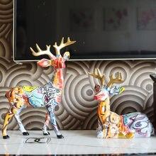 Masa süsler sanat basit yaratıcı Dachshund renk geyik dekor ev giriş şarap dolabı ofis masaüstü süsleri reçine el sanatları