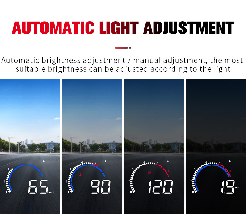 lowest price OBD HUD M13 NEW car head-up display Auto Electronics Hud windshield Projector Speed water temperature display Overspeed alarm