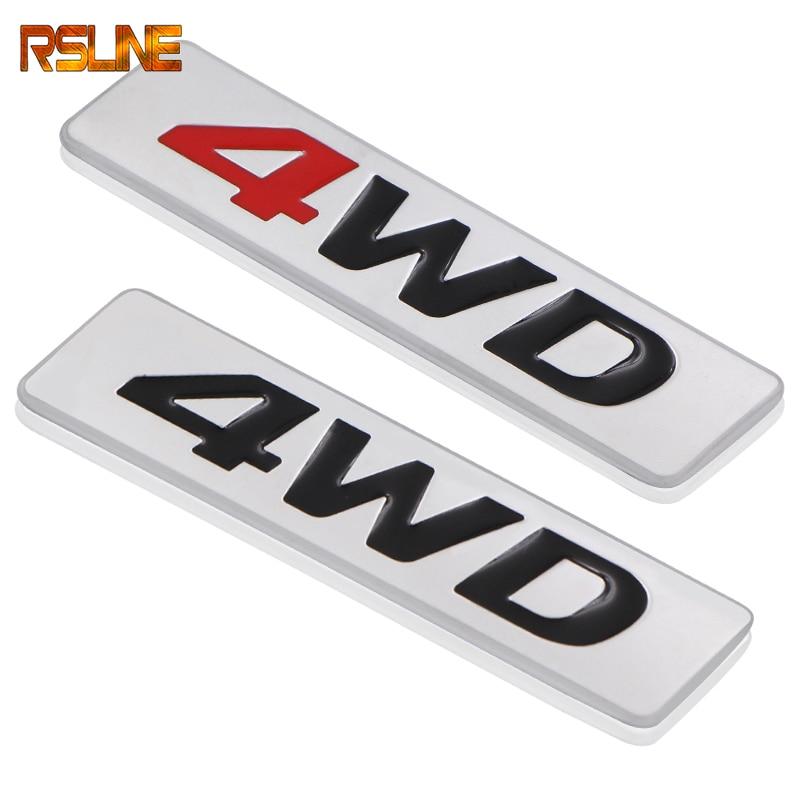 1 шт. 3D хромированный металл Стикеры 4WD Эмблема 4X4 переводная картинка для Хонда сrv Audi A4 Q7 A8 BMW X7 Mercedes-Benz S-Class автомобильные аксессуары