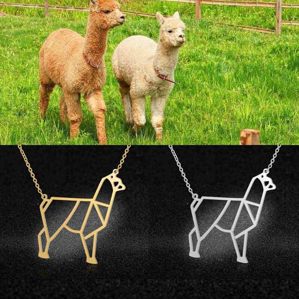 100% Real Stainless Steel 40cm Alpaca Necklace Super Quality Trend Jewelry Necklaces Fashion Animal Pendant Necklaces