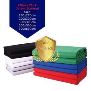 Image 2 - NeoBack Chromakey Muslin Ảnh Nền Chụp Ảnh Phông Nền Phòng Thu Video Cotton Vải Poly Xanh Màn Hình Màu Chân Dung