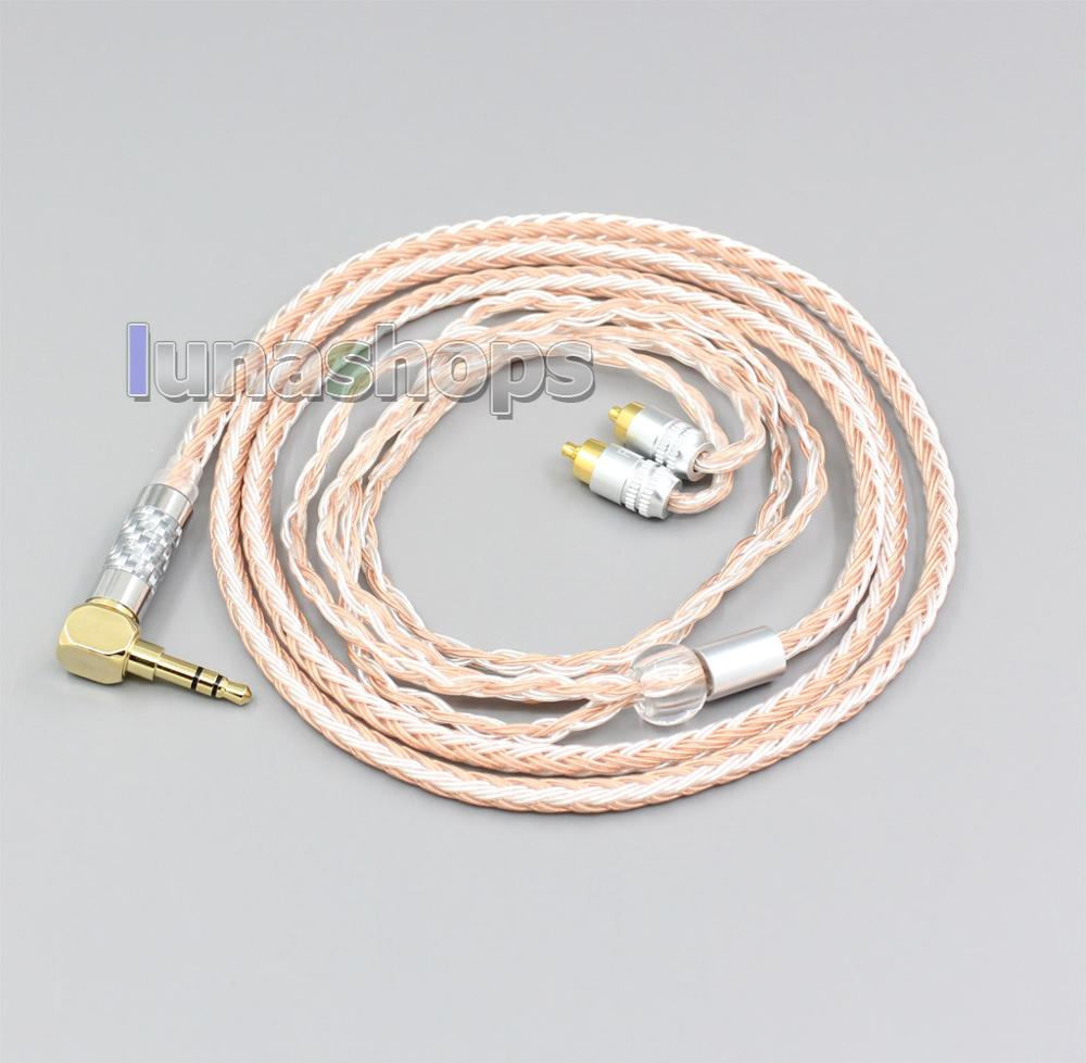 LN006473 2.5mm 3.5mm XLR Balanced 16 Core OCC Silver Mixed Headphone Cable For Sony IER-M7 IER-M9 IER-Z1R