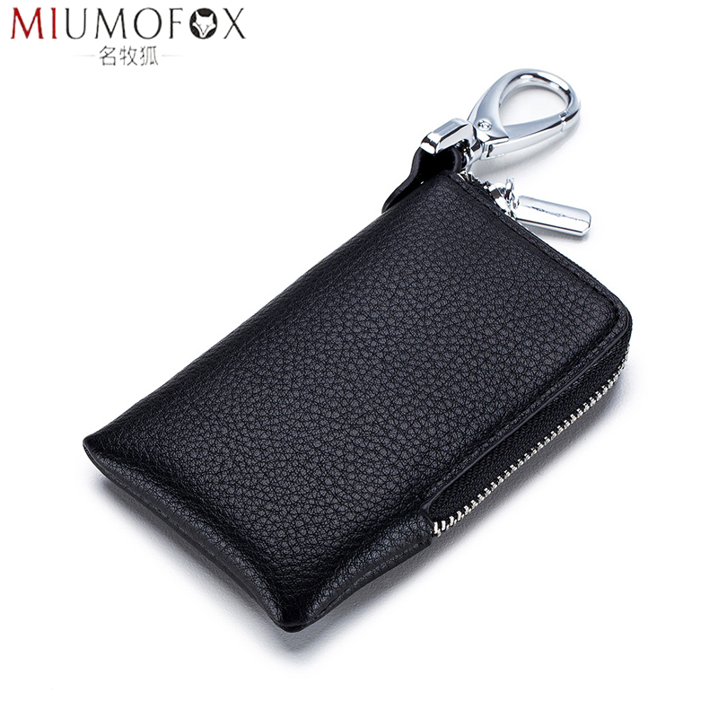 Key Holder For Car Key Wallet 2020 New Arrivel Genuine Leather Keychain Housekeeper Small Key Case Organizer Key Cover Pouch Bag