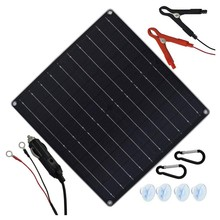 Solar Trickle Charger 20W 12V Solar Panel Car Battery Charger Portable Solar Battery Maintainer with Cigarette Lighter Plug & Al(China)