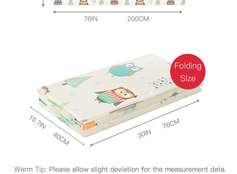 H7e8b0e1833134642a059a640f30529529 Miamumi Portable Baby Play Mat XPE Foam Double Sided Playmat Home Game Puzzle Blanket Folding Mat for Infants Kids' Carpet Rug
