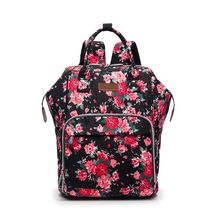 Floral Diaper Backpack for Mom Large Capacity Maternity Baby Bag Multi Function Organizer with Stroller Straps