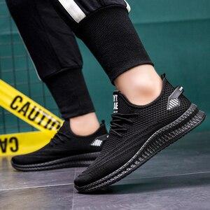 Image 4 - Mannen Casual Schoenen Lente Mesh Sneakers Zwart Loopschoenen Zomer Nieuwe Goedkope Sapatos De Mujer Mode Licht Ademende Mannen schoenen