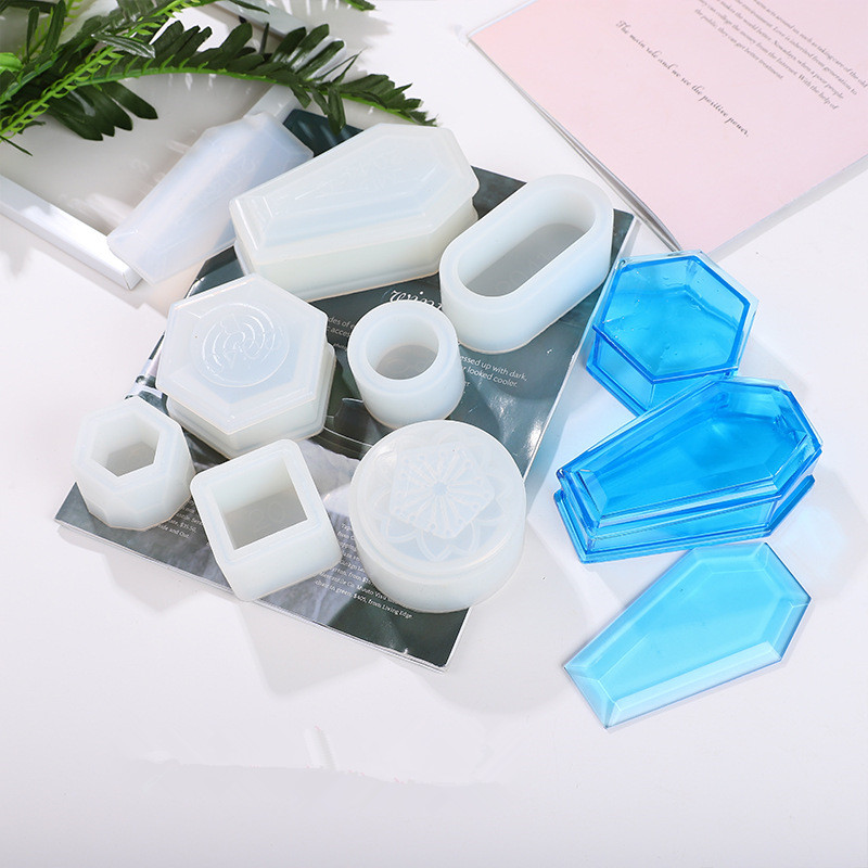 Long Ellipse Flowerpot Silicone Mold For Resin Storage Box DIY Jewelry Handmade Making Crafts Crystal Epoxy Resin Mold