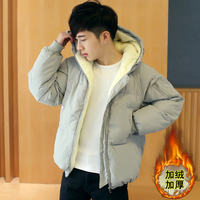 Winter coat men's slim jacket cotton warm and thick Hooded Coat comfortable clothing men's solid color