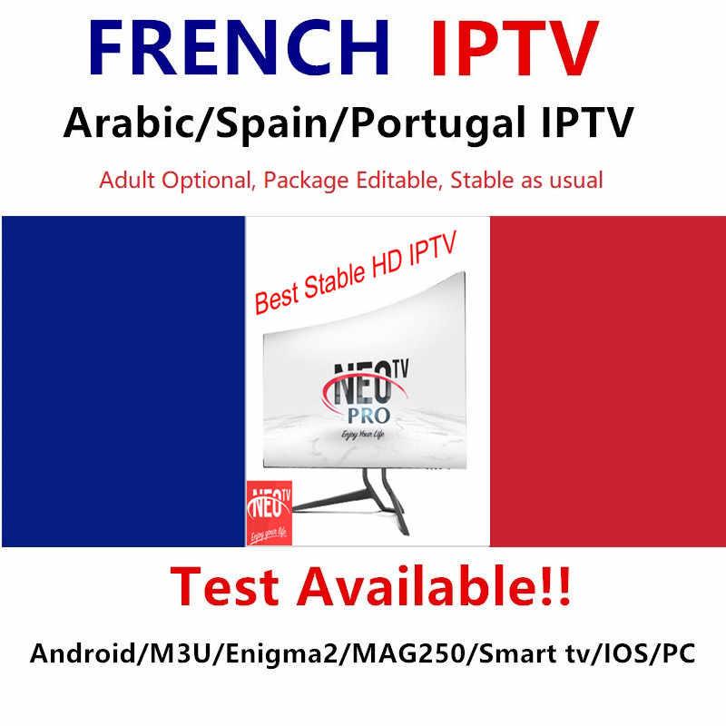 Neotv pro 4K francuski subskrypcja IPTV arabski europa belgia wielkiej brytanii IPTV kod, Neo jeden rok LiveTV wideo na żądanie, M3U MAG Android smart TV opakowanie