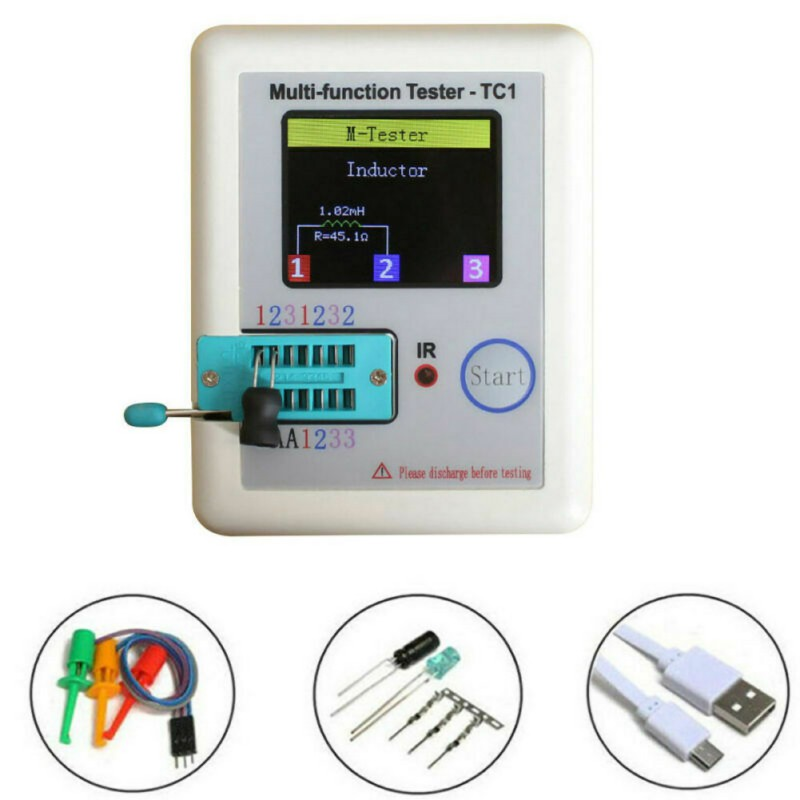 High Quality LCR-TC1 3.5 Inch Multifunction Color Display Tft Backlight Transistor Tester