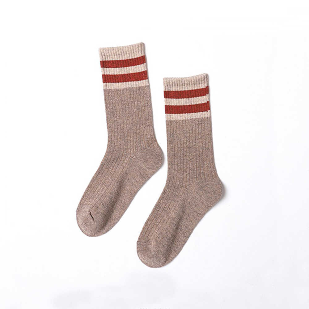 New Ladies Tube Socks Casual Cotton Comfortable Breathable Wild Cotton Socks Retro Solid Color Ladies Christmas Gift Tube Socks