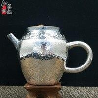 Bule de chá  bule de chá de aço inoxidável de prata  bule de chá  bule de chá de água quente  bule 200 ml de água  kung fu jogo de chá.