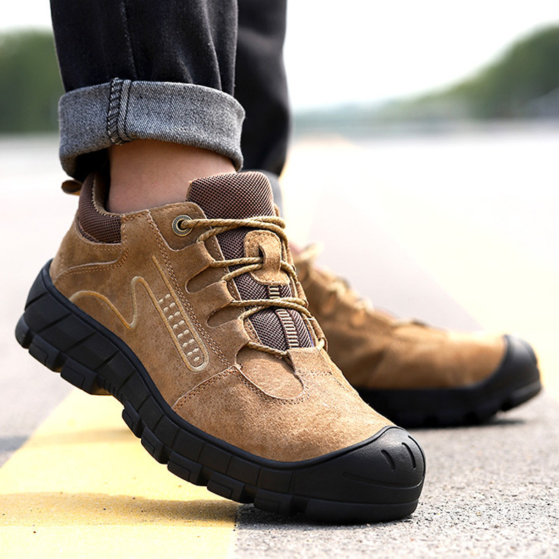 New Safety Shoes For Men Work Safety Boot Steel Toe Safety Shoes Puncture-Proof Work Sneakers Indestructible Shoes Work Footwear