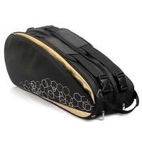 3 Layers Waterproof Tennis Bag Professional Racquet Sports Bag Racket Backpack Badminton Bag Accessories Holding 6 12 Rackets