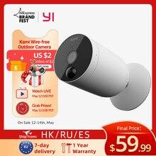 YI-كاميرا مراقبة خارجية لاسلكية ، جهاز أمان منزلي لاسلكي يعمل بالبطارية مع مستشعر حركة PIR