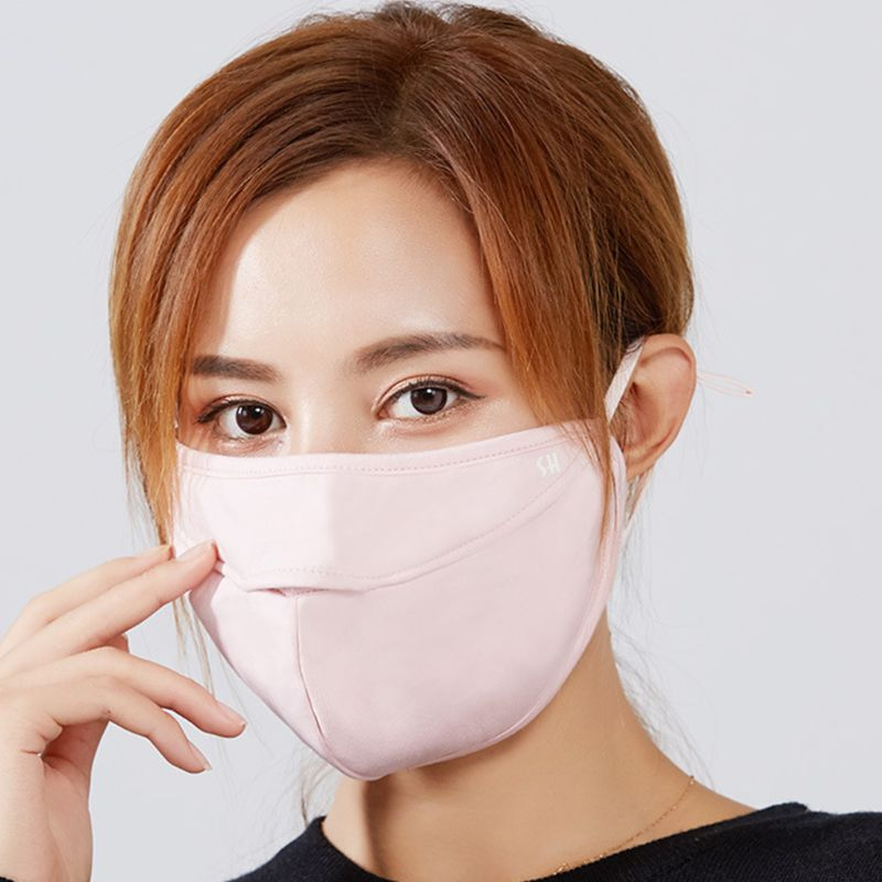 Unisex Winter Double Layer Warm Plush Mouth Mask Cutout Breathable Mouth-Muffle 95AB
