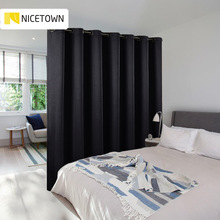 NICETOWN 1PC Room Divider Curtain Block Out Total Privacy Ready Made for Cafe Office Hotel Fitting Room Light Curtain