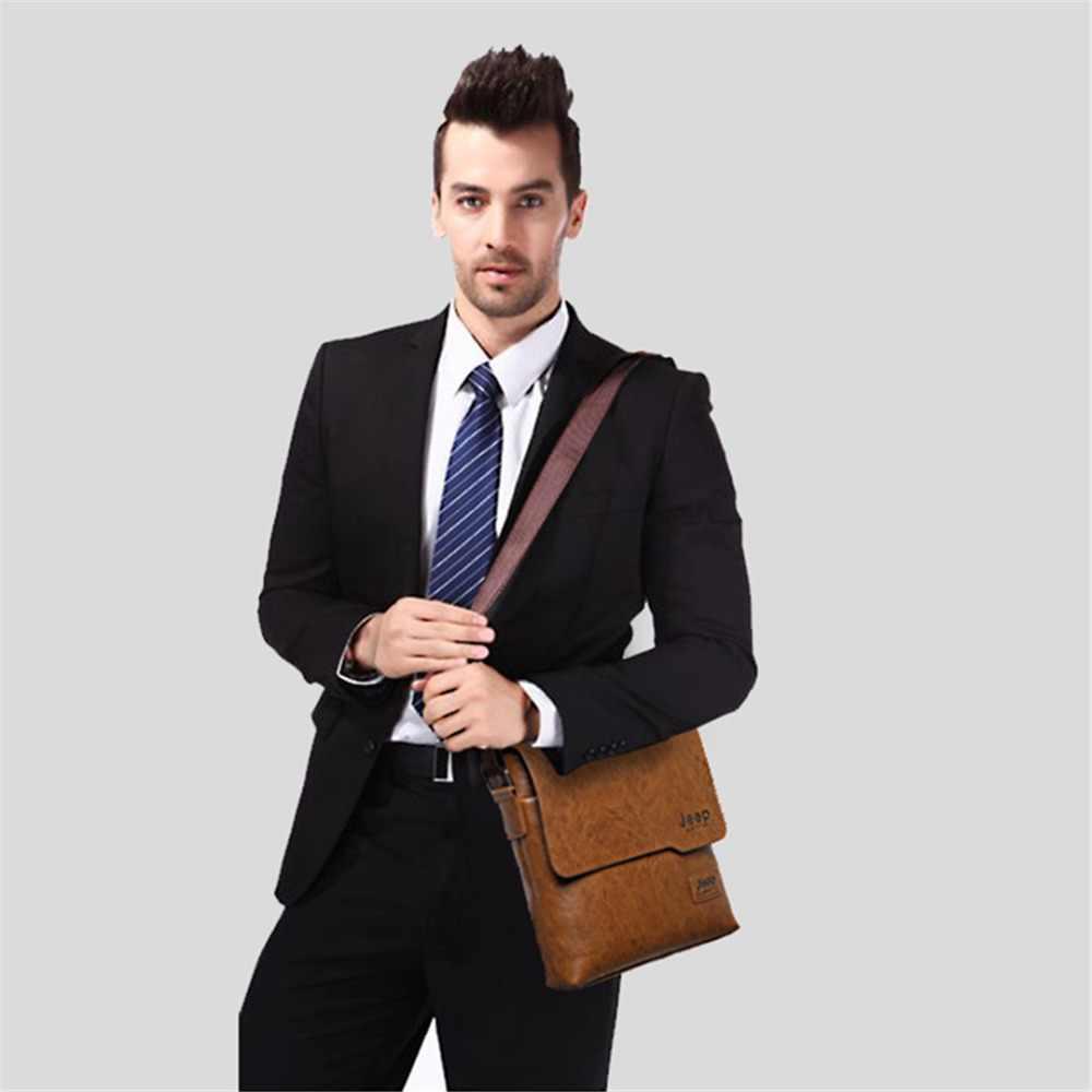 2019 yeni moda Crossbody çanta erkekler için deri siyah büyük kapasiteli omuzdan askili çanta adam iş gündelik çanta Bolso Hombre