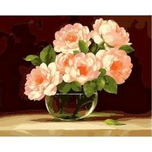 Gatyztory рамка для самостоятельной раскраски по номерам цветка