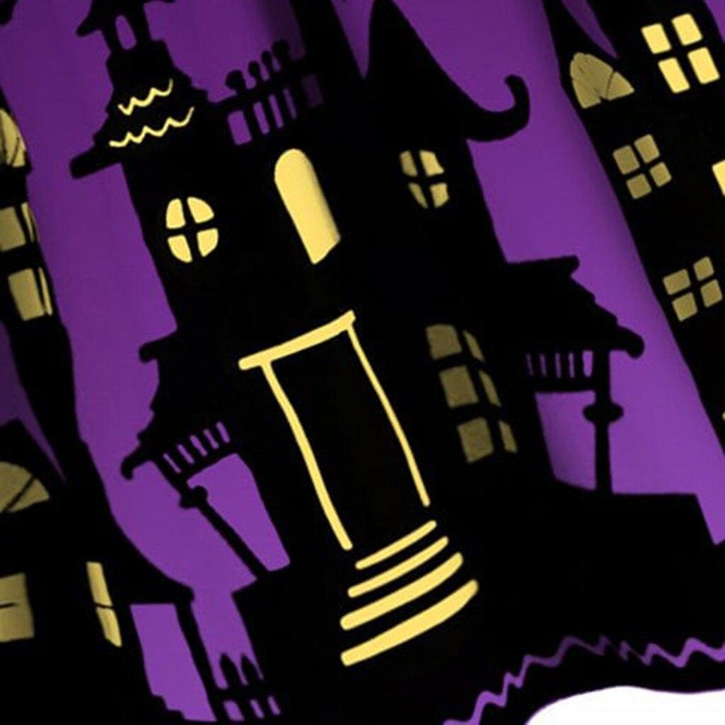Women Pumpkin Party Print Dress Halloween Long Sleeve V 13