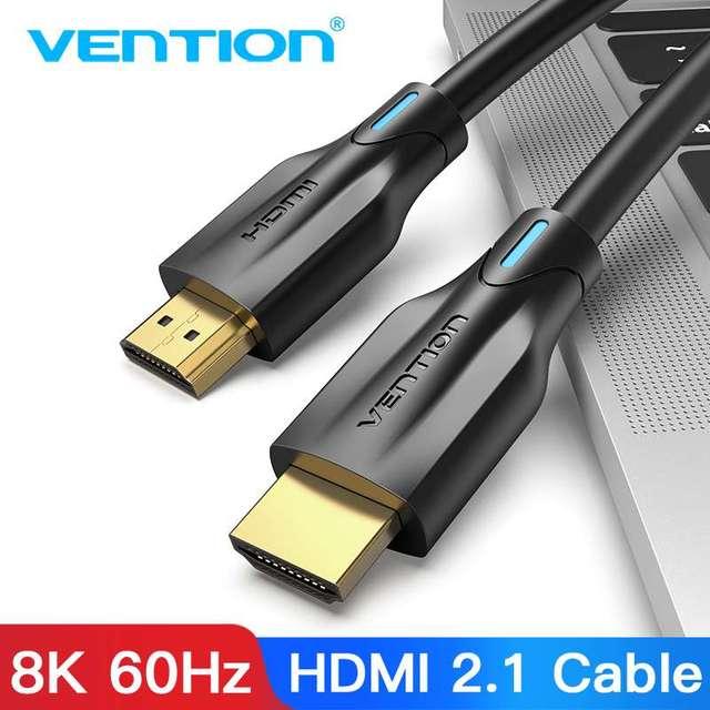 Vention HDMI 2.1 케이블 4K 120Hz 3D 고속 48Gbps HDMI 케이블 PS4 분배기 스위치 상자 Extender 오디오 비디오 8K HDMI 케이블