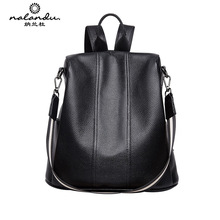 Women Fashion Genuine Leather Backpack Large High Quality Anti-theft Ladies Bagpack Casual Travel Bag Knapsack Female Schoolbag