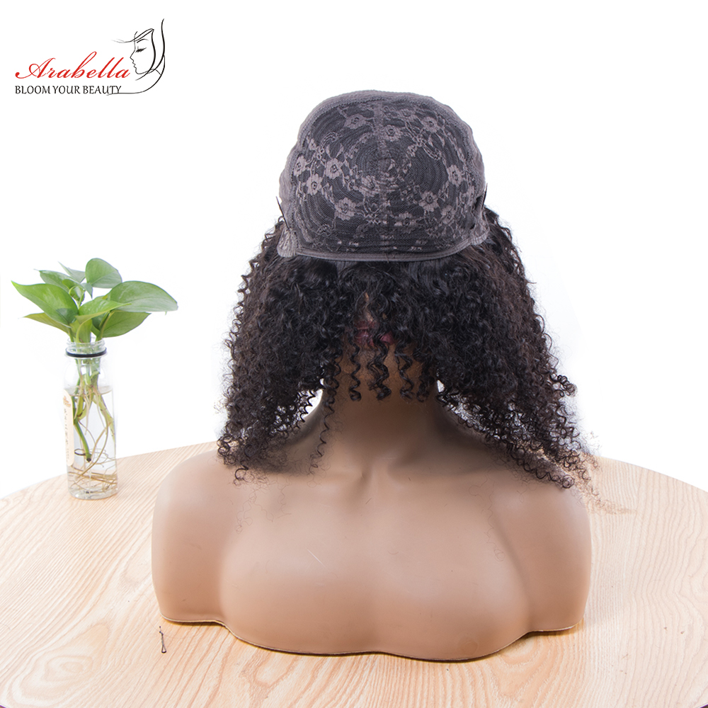 Jerry Curly Machine Wig 100%  Wigs 180% Density Natural  Hair Arabella Curly Hair Wig  4