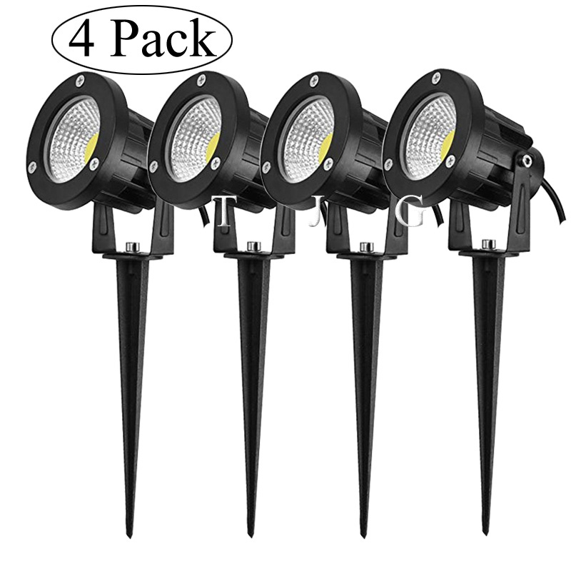 New Style COB Garden Lawn Lamp Light 220V 110V 12V Outdoor LED Spike Light 3W 5W 10W Path Landscape Waterproof Spot Bulbs
