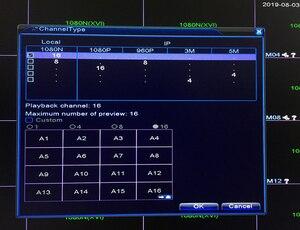 Image 3 - 16CH 1080N DVR NVR H.265 + Поддержка Wi Fi 3G PPPOE 16 канальный видео Регистраторы гибридный 6 в 1 для TVI CVI AHD 1080P 5MP IP Камера