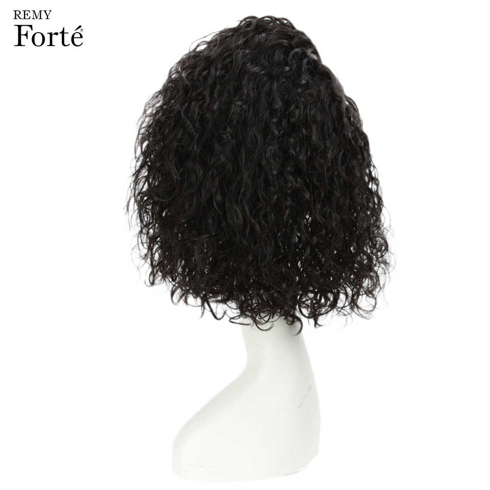 Remy Forte Human Hair Wigs Women's Wigs 100% Remy Indian Hair Wigs U Part Lace Wigs Curly Short Human Hair Wig Natural Ombre Wig