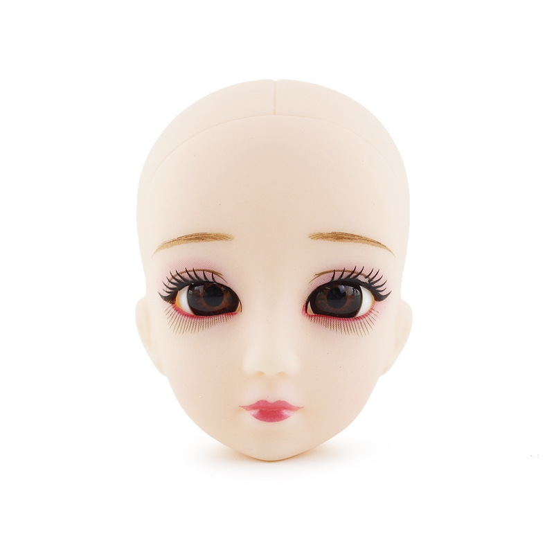 30 Cm Doll Bald Head DIY Makeup BJD Doll Accessories Baby Doll Dressing Maintenance Doll Head Cheap Toy For Girls Eye Detachable